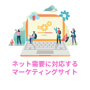 ネット需要に対応するマーケティングサイト